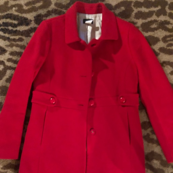 J. Crew Red Madeline Coat
